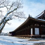 [雪の京都]雪の三十三間堂と京都国立博物館